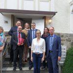 Ulla Wacker (AWO), Klaus Stotko, Jochen Winter (AWO), Dr. Nadja Büteführ, Frank Nolte (WM), Ministerin Christina Kampmann, Manuela Dargel (AWO), Gerhard Rother (WM)