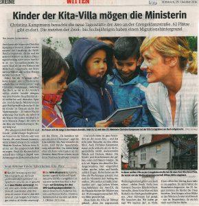 19.10.2016_WAZ_Kinder der Kita-Villa mögen die Ministerin